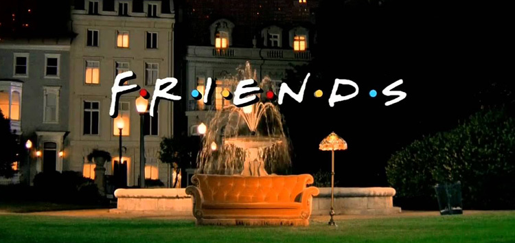 friends facts fountain couch
