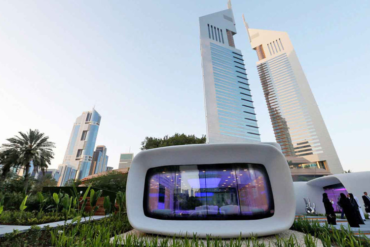 3d printed building in Dubai