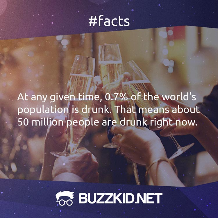 50 million people are drunk right now