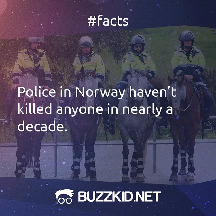 Norway is a low crime rate country
