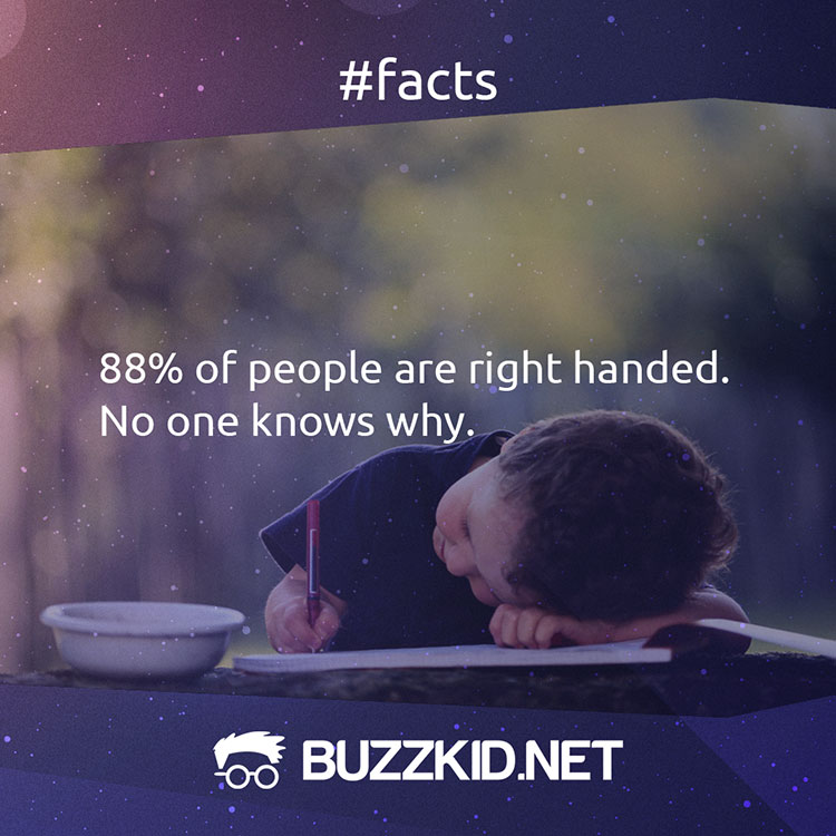 Most of the people are right-handed