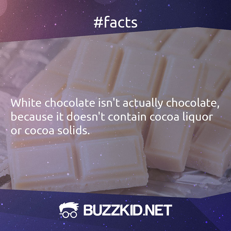 White chocolate isn't chocolate