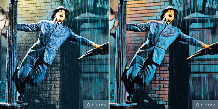 Singin' In The Rain Movie Scene Transformed by Prisma app