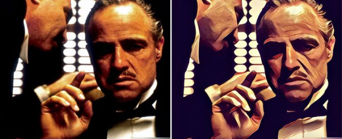 Famous movie scenes turned into art by Prisma app