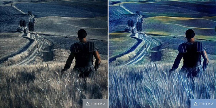 Gladiator movie scene turned into art by Prisma app
