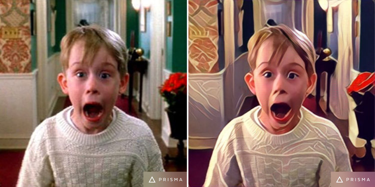 Home Alone Movie Scene Transformed by Prisma app