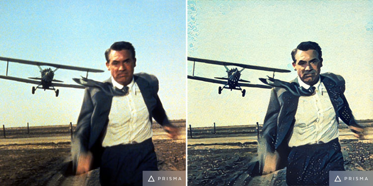 North by Northwest movie scene edited by Prisma app
