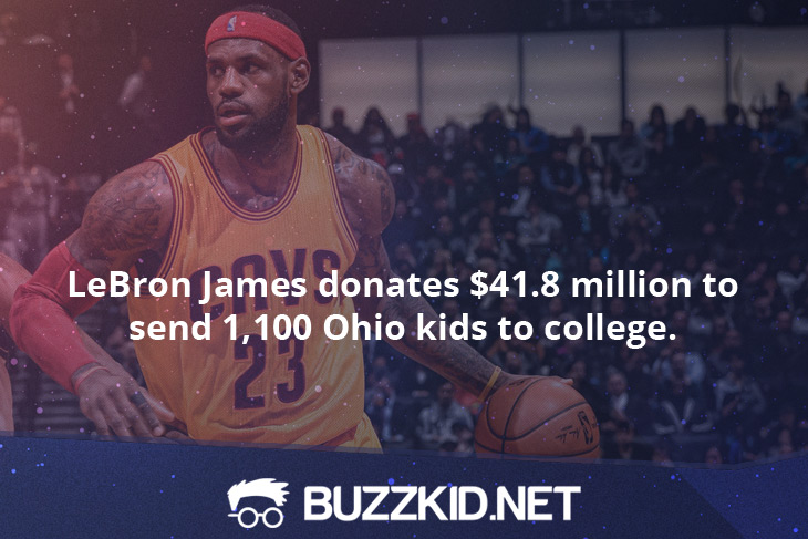LeBron James donates $41.8 Million to send 1,100 Ohio kids to college