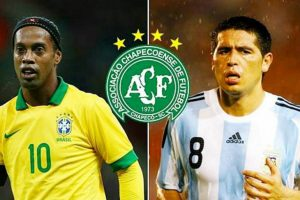 Ronaldinho and Riquelme Offer To Play For Free For Chapecoense