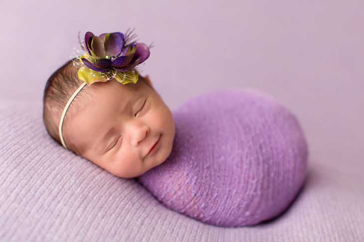 Cute Baby Smiles While Sleeping